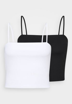 EILY SINGLET 2 PACK - Toppe - black dark/white light