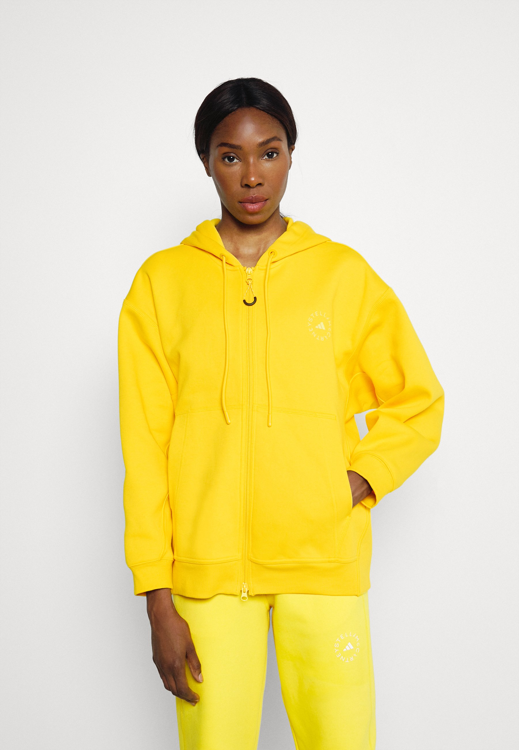 Women HOODADIDAS BY STELLA MCCARTNEY SC FULL ZIP HOOD TRAINING WORKOUT PRIMEGREEN HOODED TRACK TOP - Zip-up sweatshirt