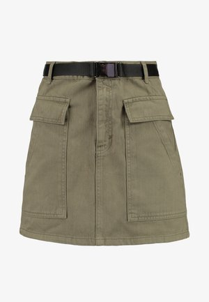 Denim skirt - khaki