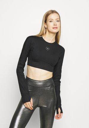 CROP - Maglietta a manica lunga - black