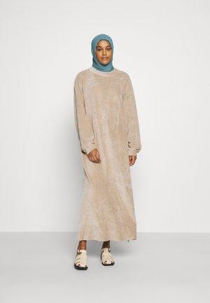 MODESTY OVERSIZED MAXI DRESS WITH ROUND NECKLINE - Maxi dress - stone