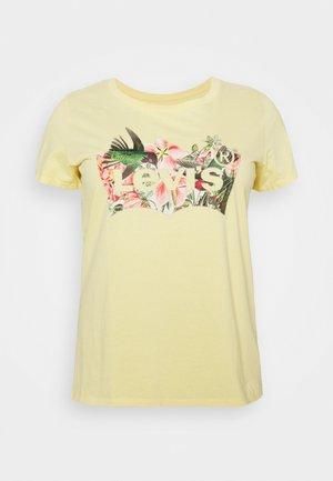 PERFECT TEE - Printtipaita - yellow