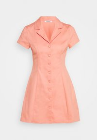 Glamorous - A LINE MINI DRESS WITH LAPEL COLLAR - Abito a camicia - coral - 0