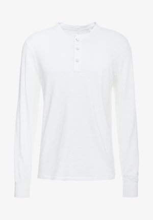 CLASSIC HENLEY - Long sleeved top - white