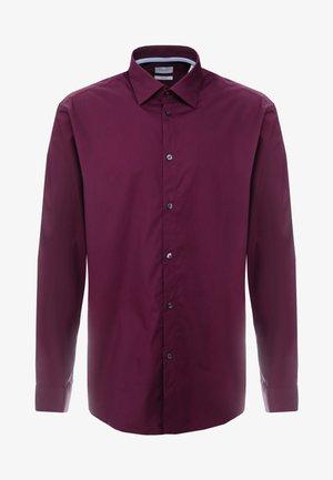 MINI STRUCT LS - Kostymskjorta - bordeaux red
