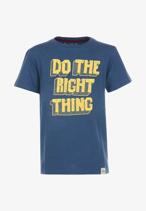 DO THE RIGHT THING - Print T-shirt - blue