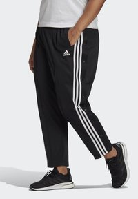 adidas Performance - ADIDAS SPORTSWEAR WRAPPED 3-STRIPES SNAP PANTS (PLUS SIZE) - Træningsbukser - black - 2