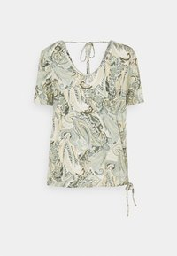 Cream - LULLA - Print T-shirt - desert sage - 0