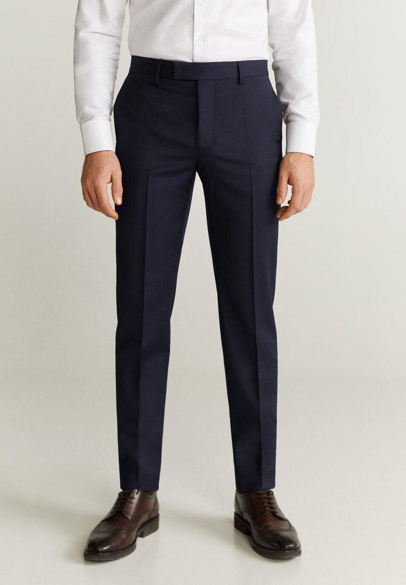 Mango - MILANO - Suit trousers - dunkles marineblau