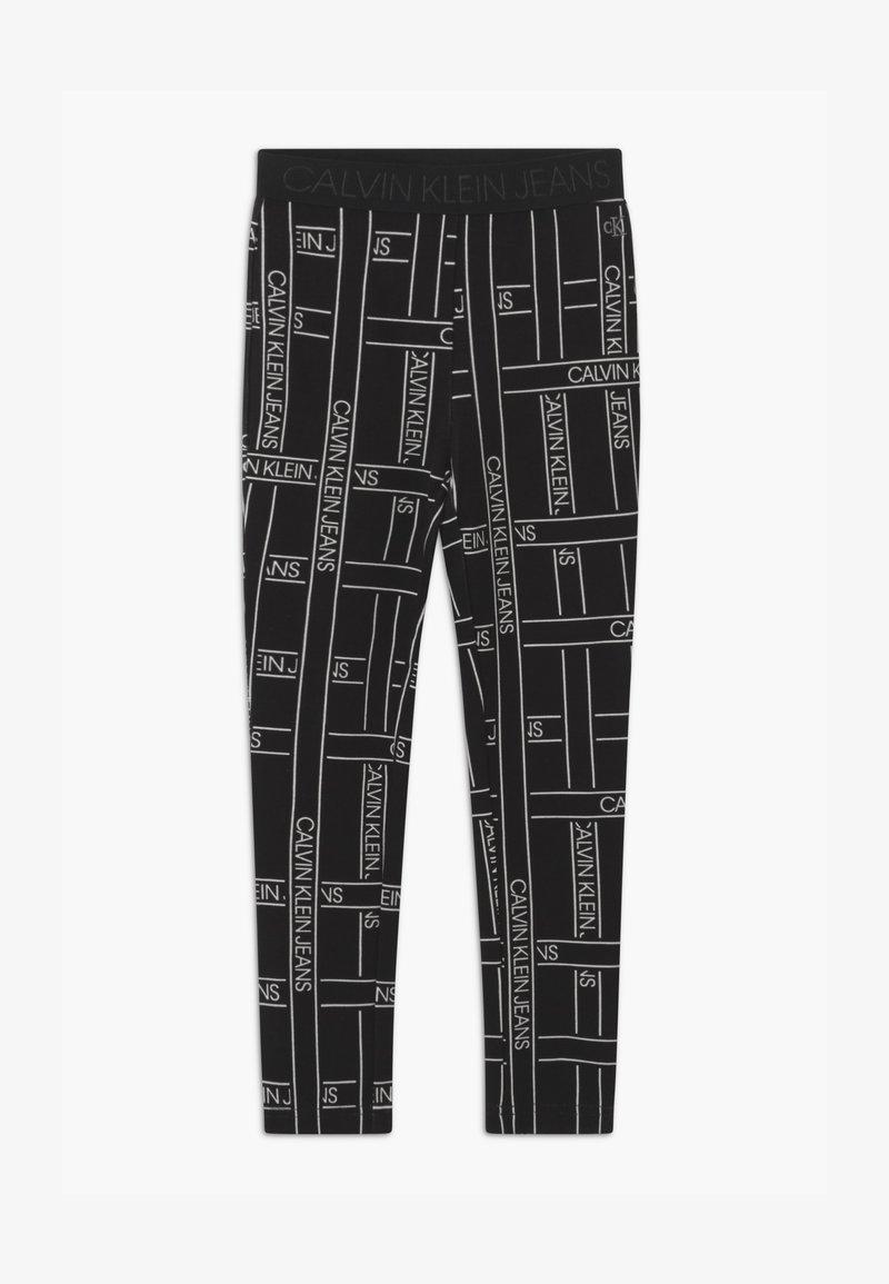 Calvin Klein Jeans - LOGO TAPE - Leggings - Trousers - black