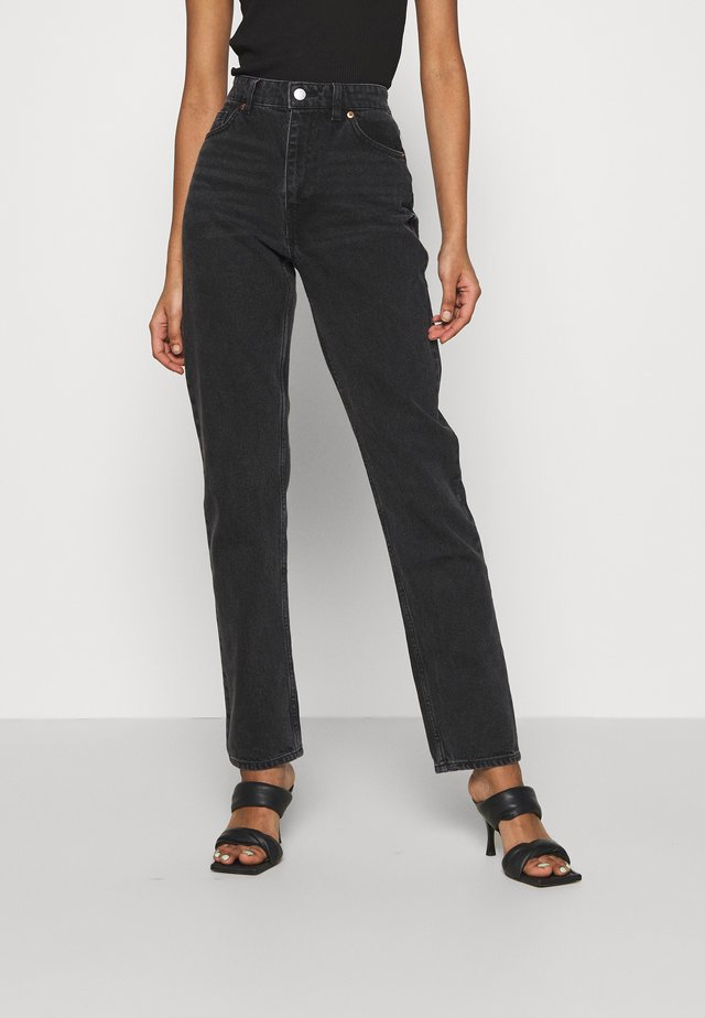 MOLUNA  - Straight leg jeans - black dark