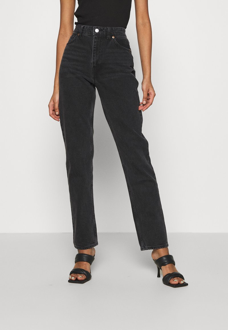 Monki - MOLUNA  - Jeans straight leg - black dark