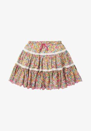 A-line skirt - multi vintage floral
