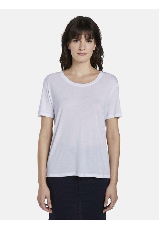 T-SHIRT SCHLICHTES T-SHIRT AUS LYOCELL - T-shirt basique - white