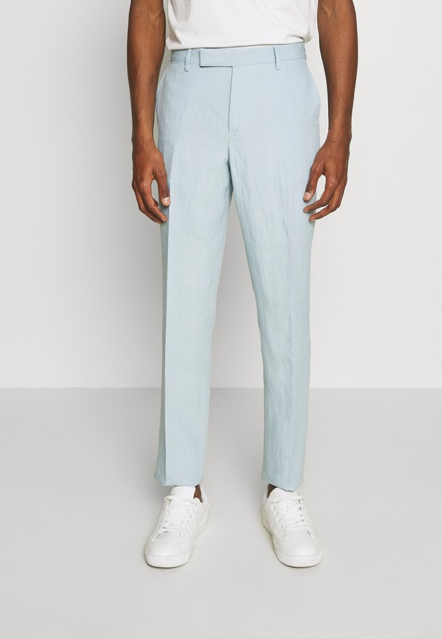 GENTS SLIM FIT TROUSER - Kostymbyxor - light blue