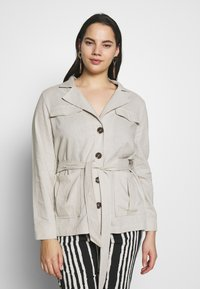 Simply Be - BELTED UTILITY - Lehká bunda - soft sand - 0