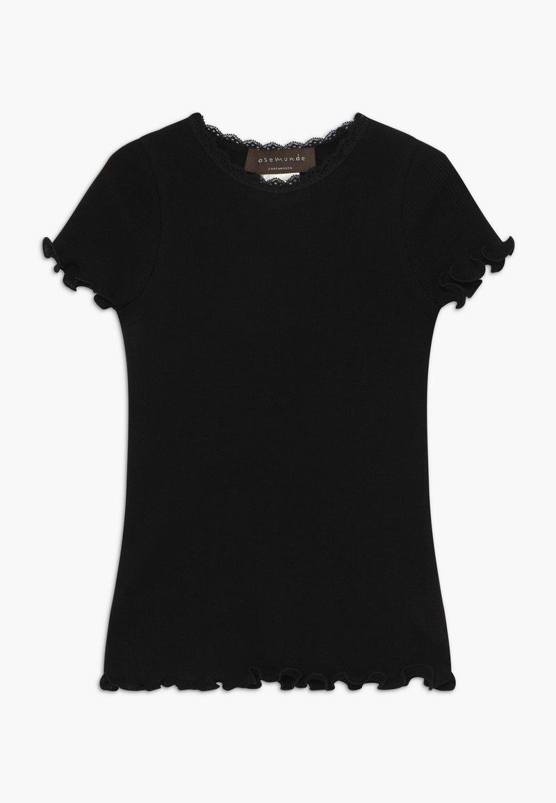 Rosemunde - ORGANIC T-SHIRT REGULAR W/LACE - Jednoduché triko - black