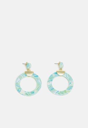Earrings - gold-coloured/mint