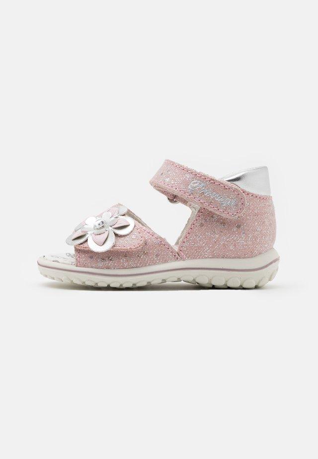 Sandalen - rosa/argento