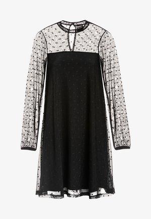 A-LINIEN-KLEID BLACK DOTS - Cocktail dress / Party dress - schwarz