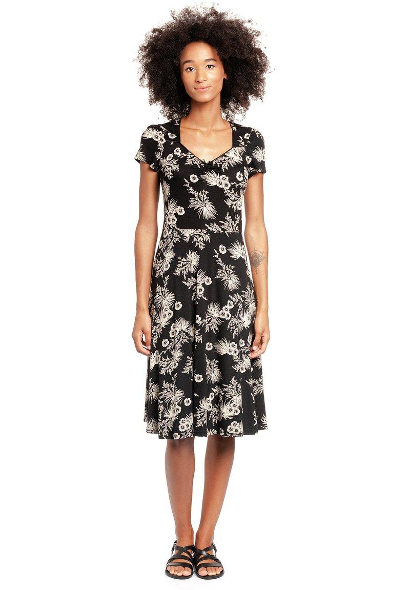 Vive Maria - TROPICAL BLOSSOM - Jumper dress - schwarz allover