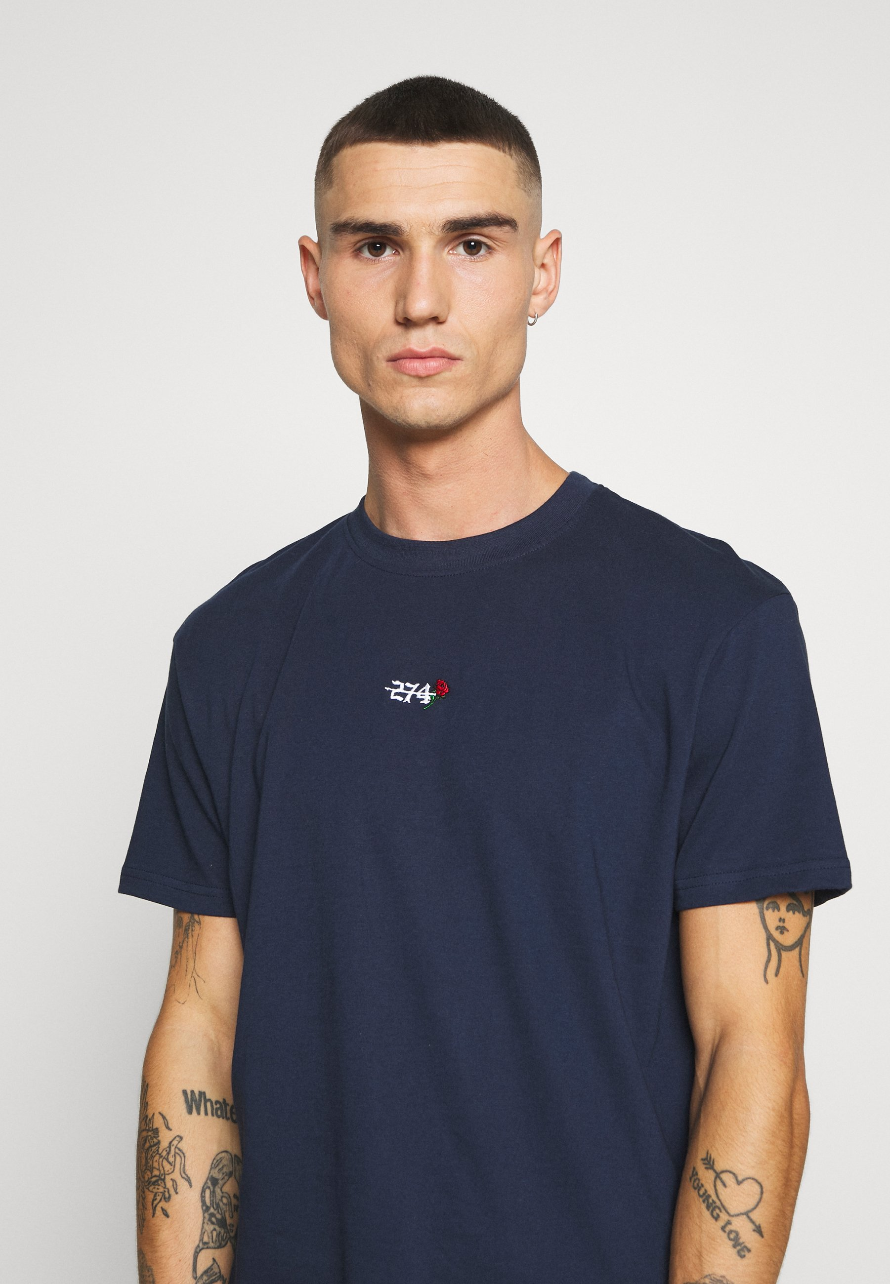 274 CREEK TEE - Basic T-shirt - navy S3N6y