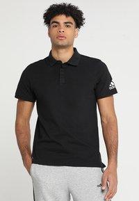adidas Performance - PLAIN - Polo shirt - black - 0