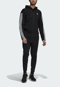 adidas Performance - ADIDAS SPORTSWEAR RIBBED INSERT TRACKSUIT - Survêtement - black - 3