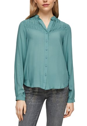 MET RIMPELING - Button-down blouse - aqua