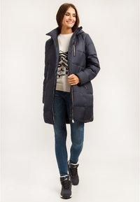 Finn Flare - MIT MODISCHER BRUSTTASCHE - Winter coat - cosmic blue - 1
