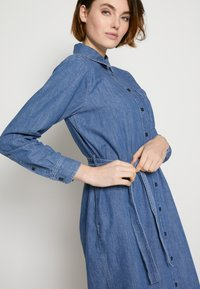 TOM TAILOR DENIM - BELTED DRESS - Day dress - blue denim - 5