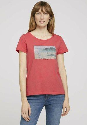 Print T-shirt - flamingo flower