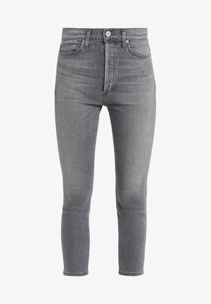 OLIVIA CROP HIGH RISE ANKLE - Straight leg jeans - granite