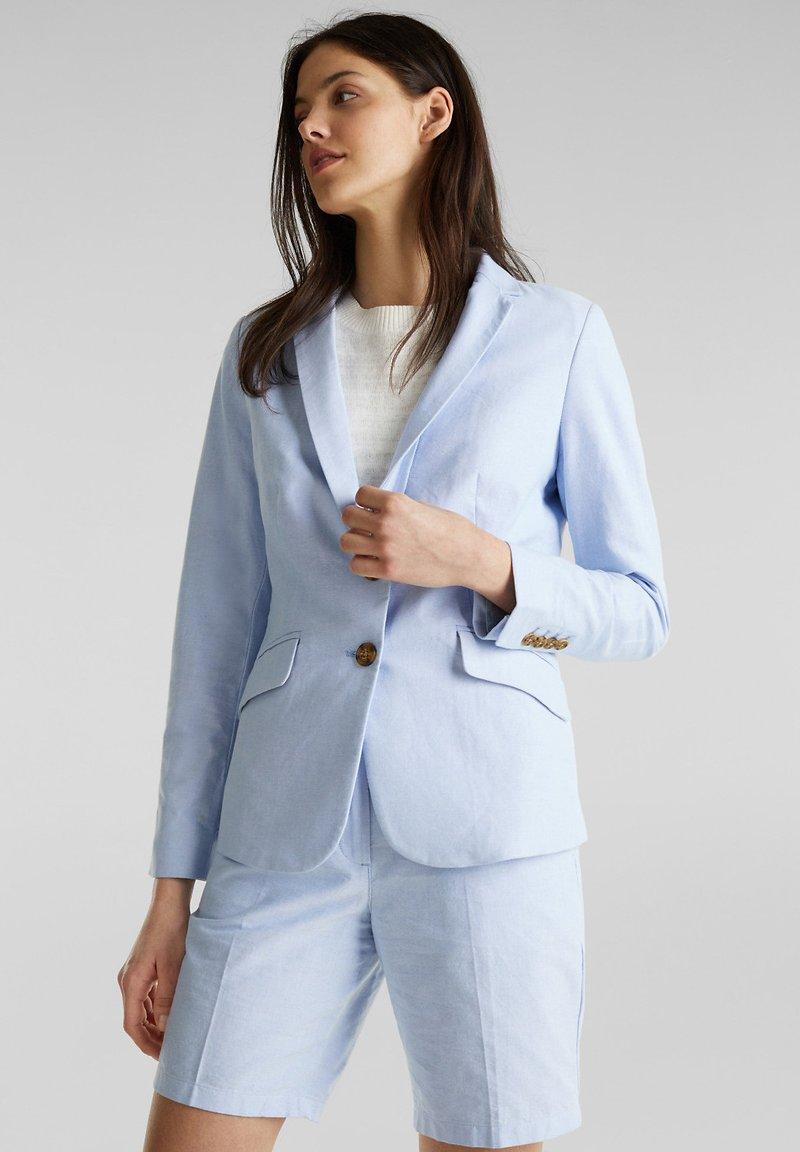 Esprit - CHAMBRAY - Blazer - light blue