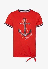 WE Fashion - MET PAILLETTENAPPLICATIE - T-shirt imprimé - red - 0