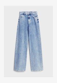 Bershka - Široké džíny - blue denim - 4