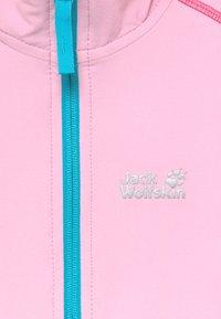 Jack Wolfskin - TURBULENCE GIRLS - Soft shell jacket - lilac - 4