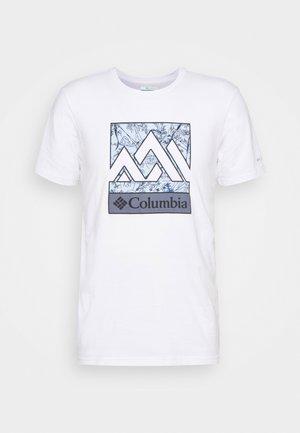 RAPID RIDGE™ GRAPHIC TEE - T-shirt con stampa - white triple peak