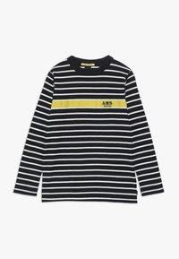 Scotch & Soda - LONG SLEEVE TEE WITH CONTRAST CHEST STRIPE - Long sleeved top - blue - 0