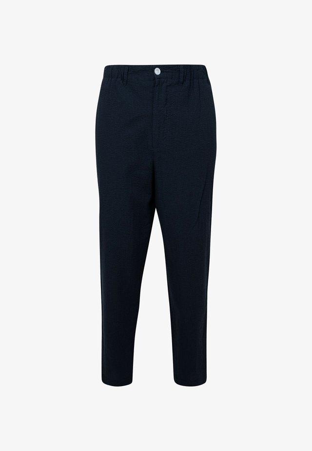 Pantalon classique - black-navy blue