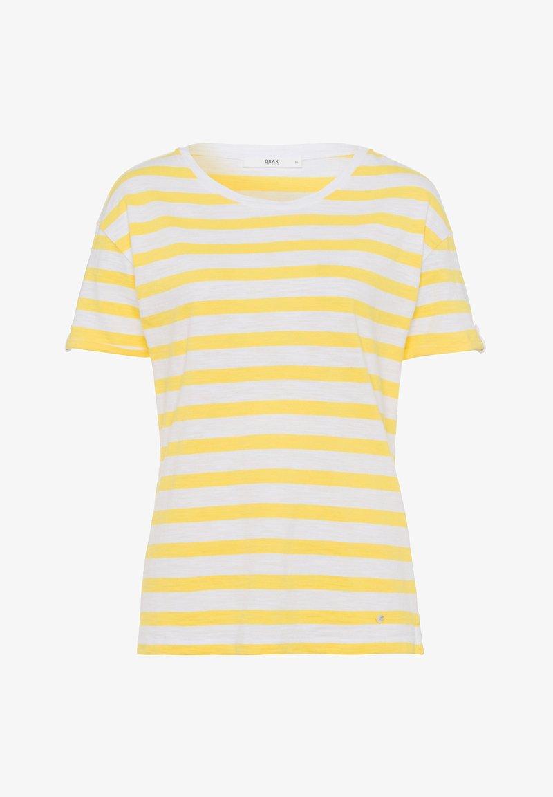 BRAX - STYLE CAMILLE - Print T-shirt - sun yellow