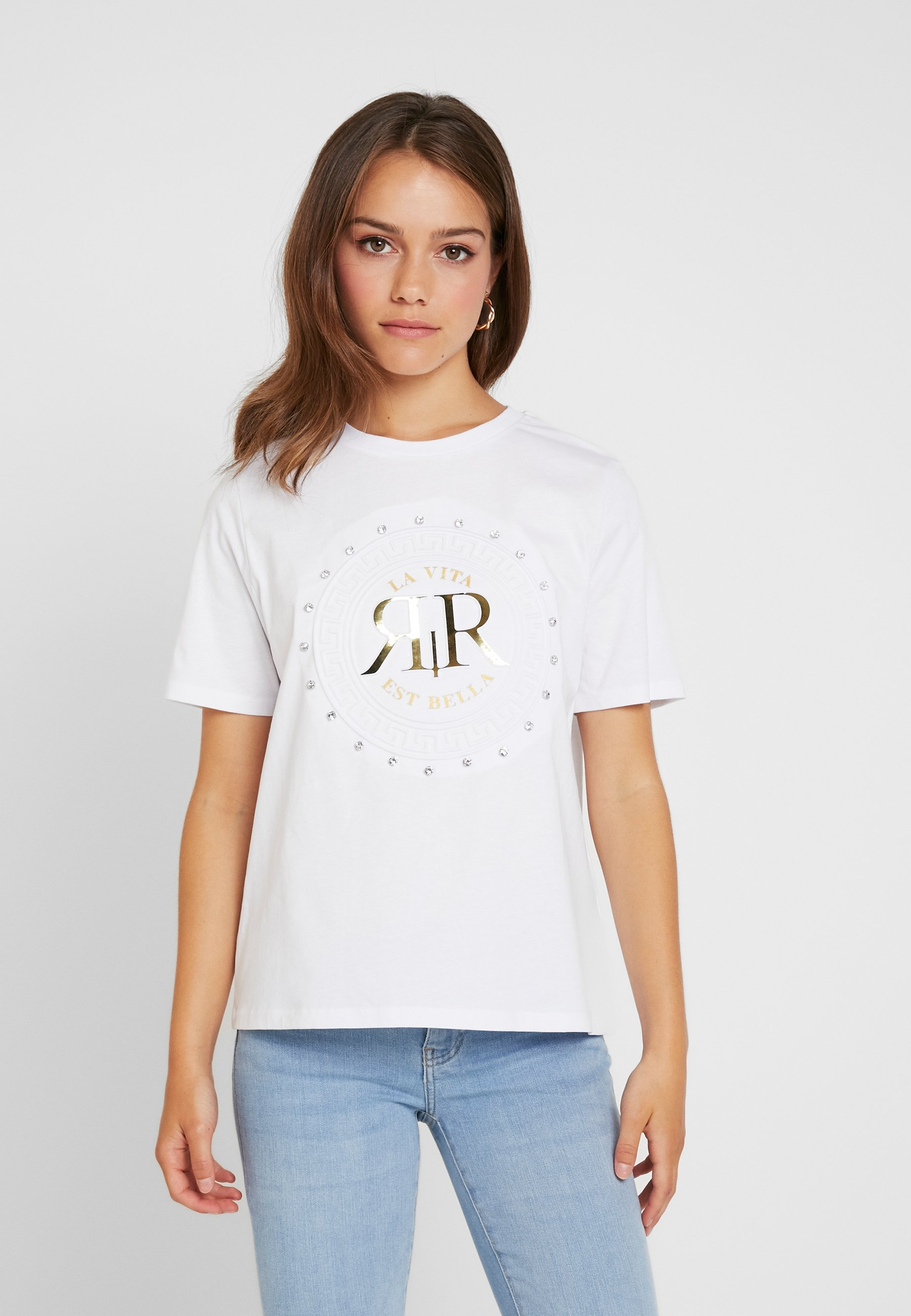 River Island Petite T-shirts med print - white