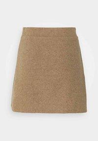 Vero Moda Petite - VMESRA SKIRT - Mini skirt - silver mink melange - 1