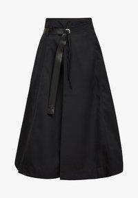 G-Star - WRAP MIDI  - A-line skirt - dk black - 0