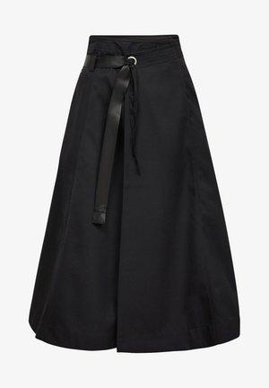 WRAP MIDI  - A-line skirt - dk black