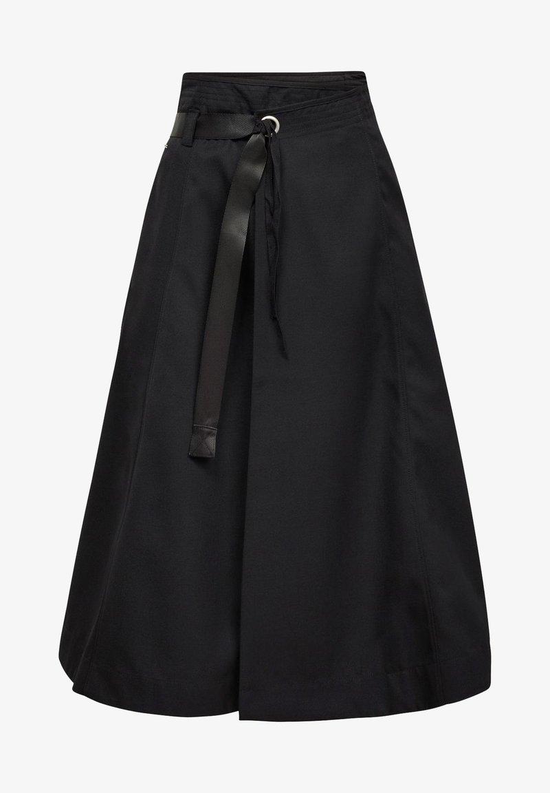 G-Star - WRAP MIDI  - A-line skirt - dk black