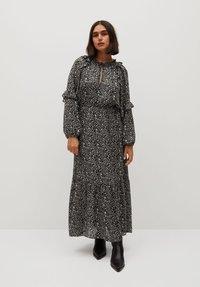 Violeta by Mango - FLOWER - Maxi dress - schwarz - 1