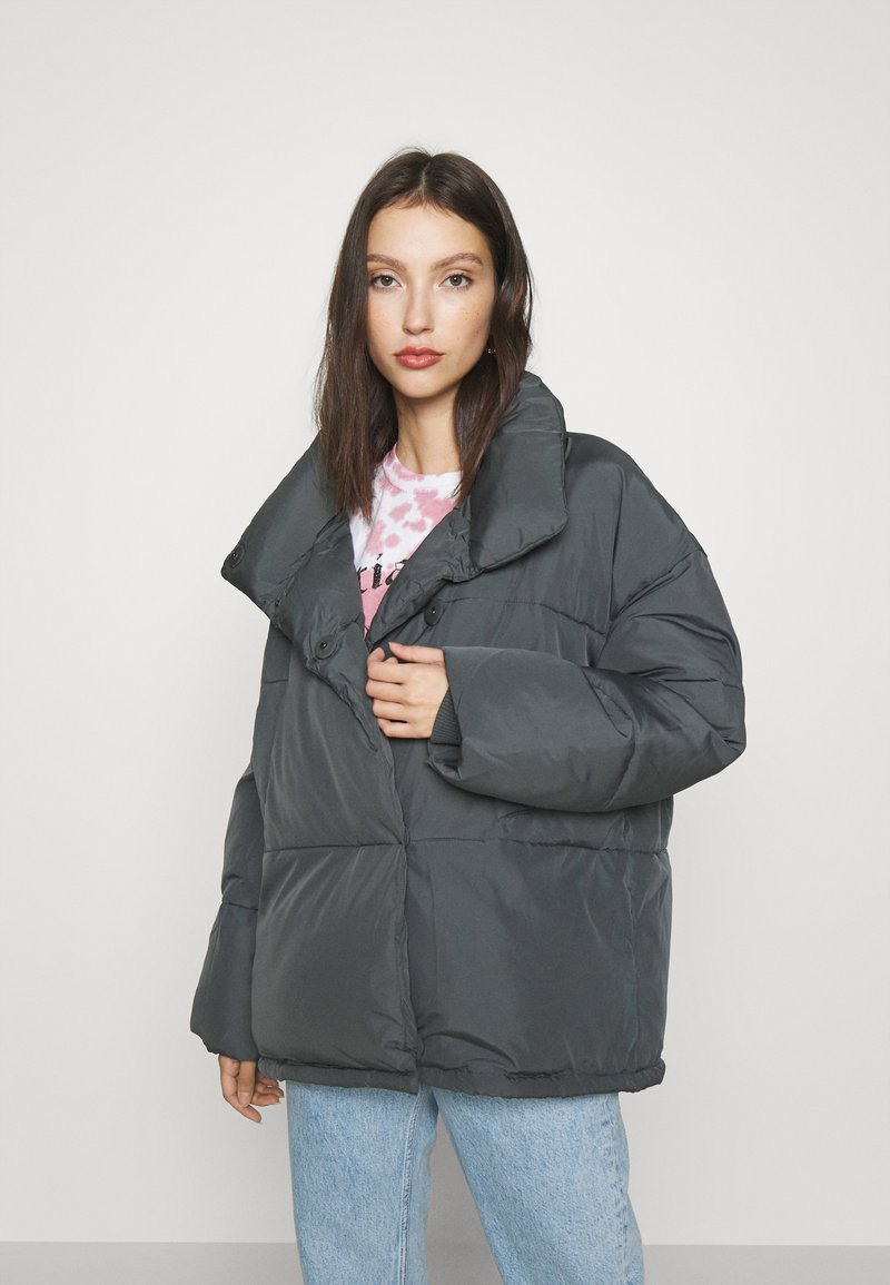 BDG Urban Outfitters - WRAP PUFFER - Winter jacket - charcoal