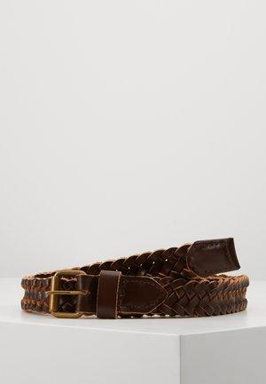 JACNATE BRAIDED BELT - Braided belt - brown stone