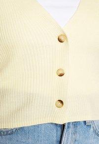 Missguided - CROP CARDIGAN - Cardigan - pale yellow - 5